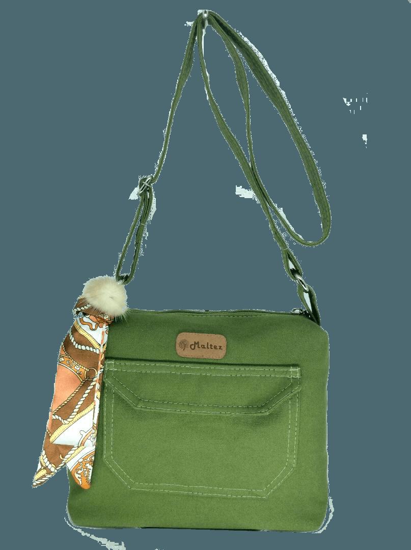 Bolsa Tereza Verde com Lenço-pompom - Fábio Maltez