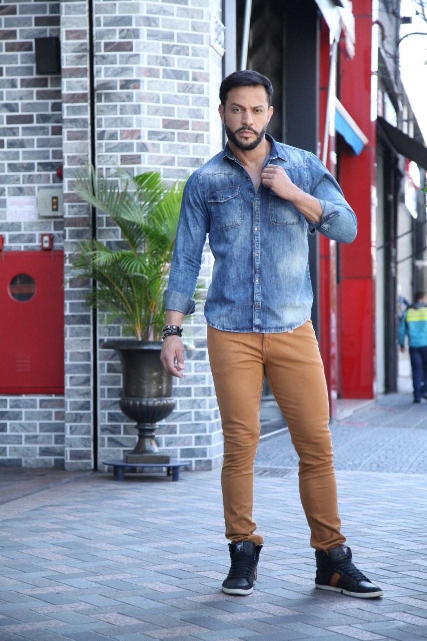 Calça Color Skinny Masculina Caramelo [40457]