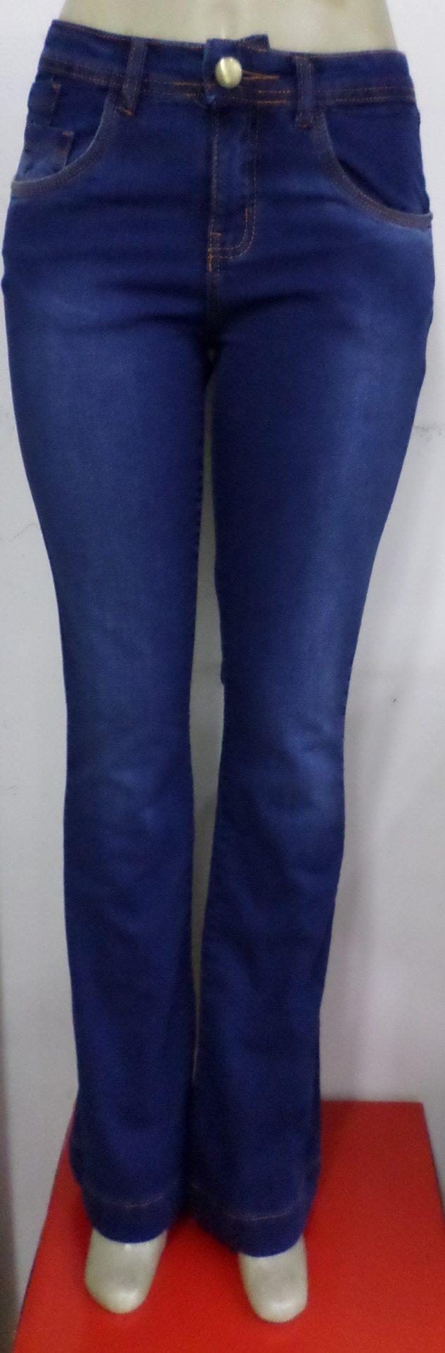 Calça Feminina Black Jeans Boca Larga - R 79 e8b3887a3b5