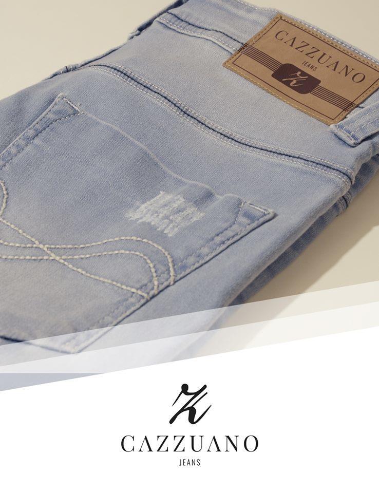 Calça Cazzuano Skiny Frente Plana jeans Lucy