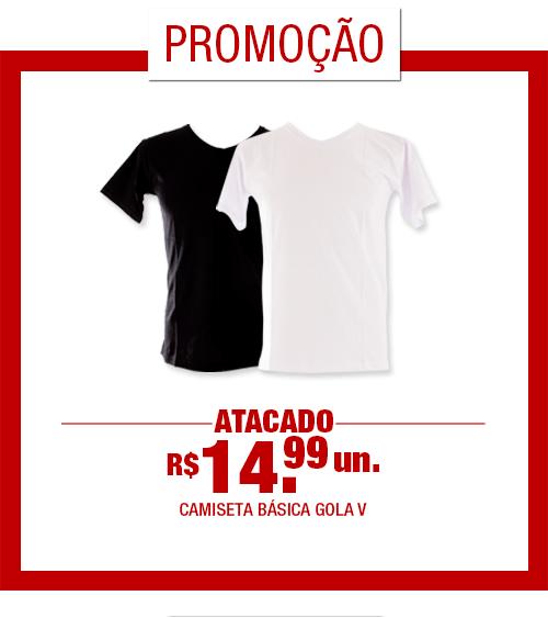 Camiseta Masculina Básica Gola V [CDKA]
