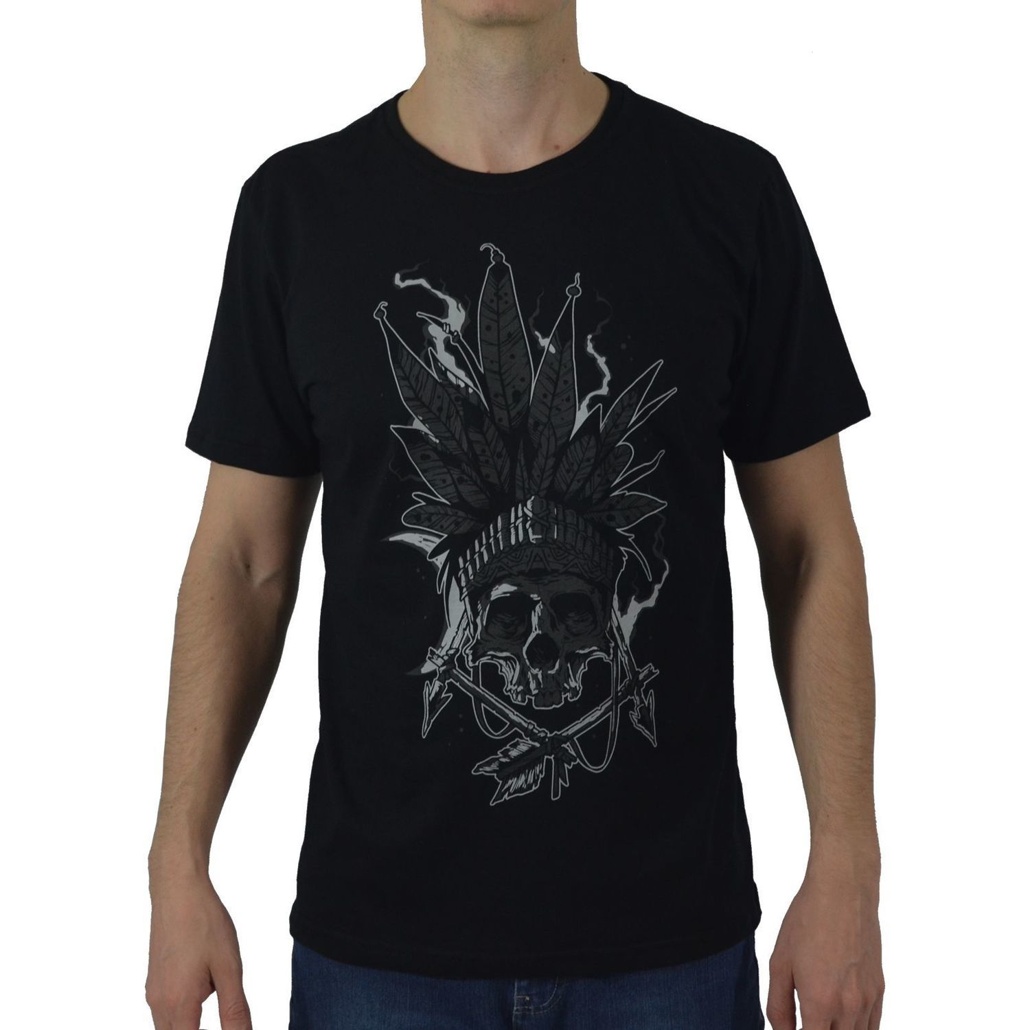 Camiseta Masculina Fallon & Co. Indian Preta