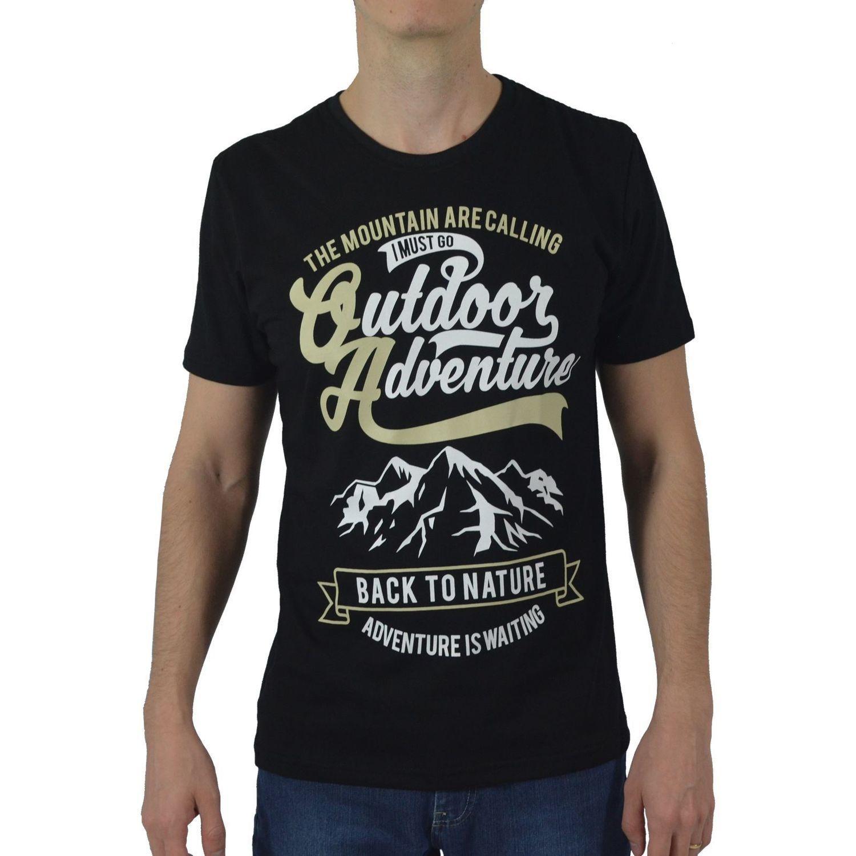 Camiseta Masculina Fallon & Co. Outdoor Adventure Preta