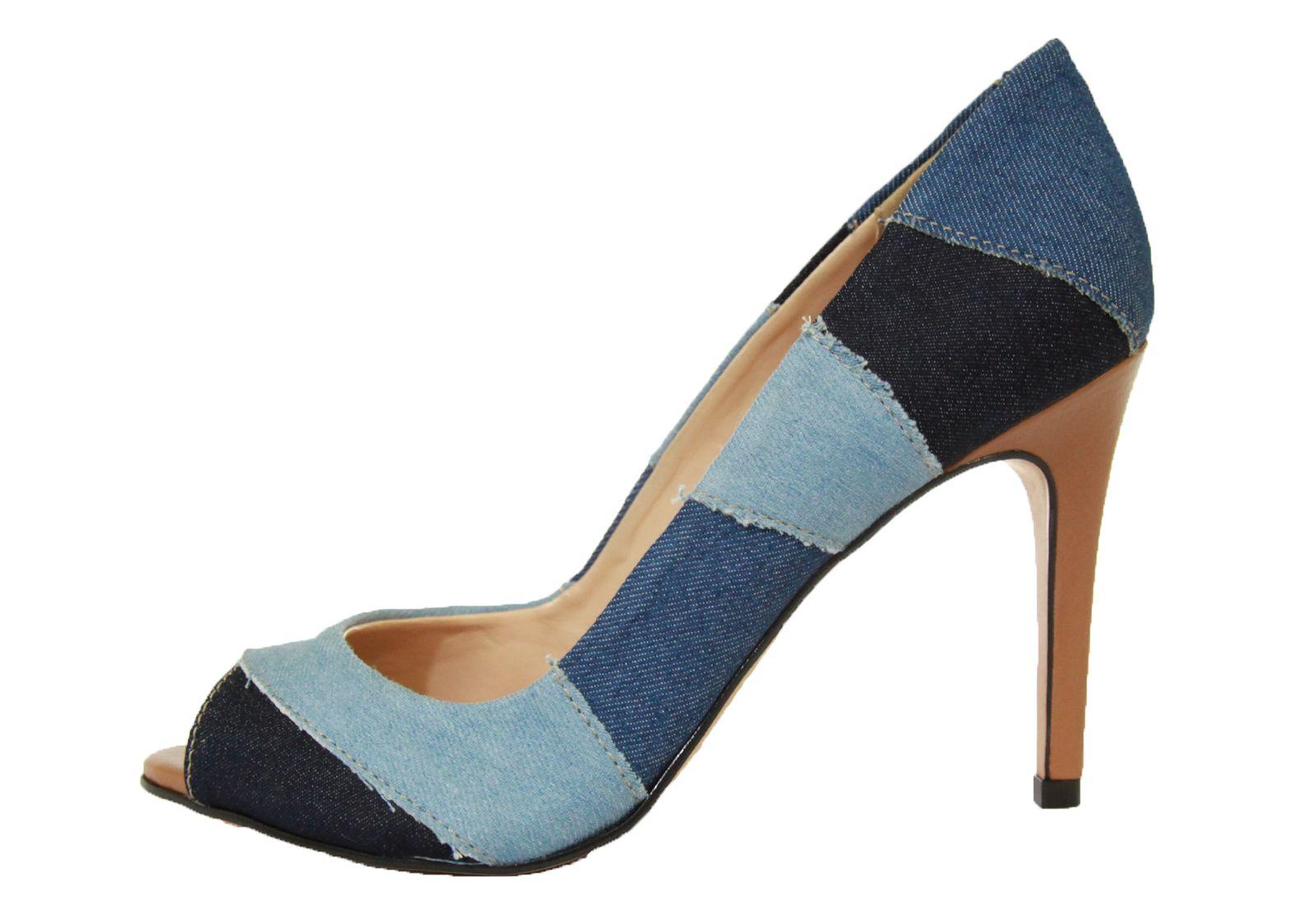 Peep toe Bellagio Jeans Multicolor Conhaque