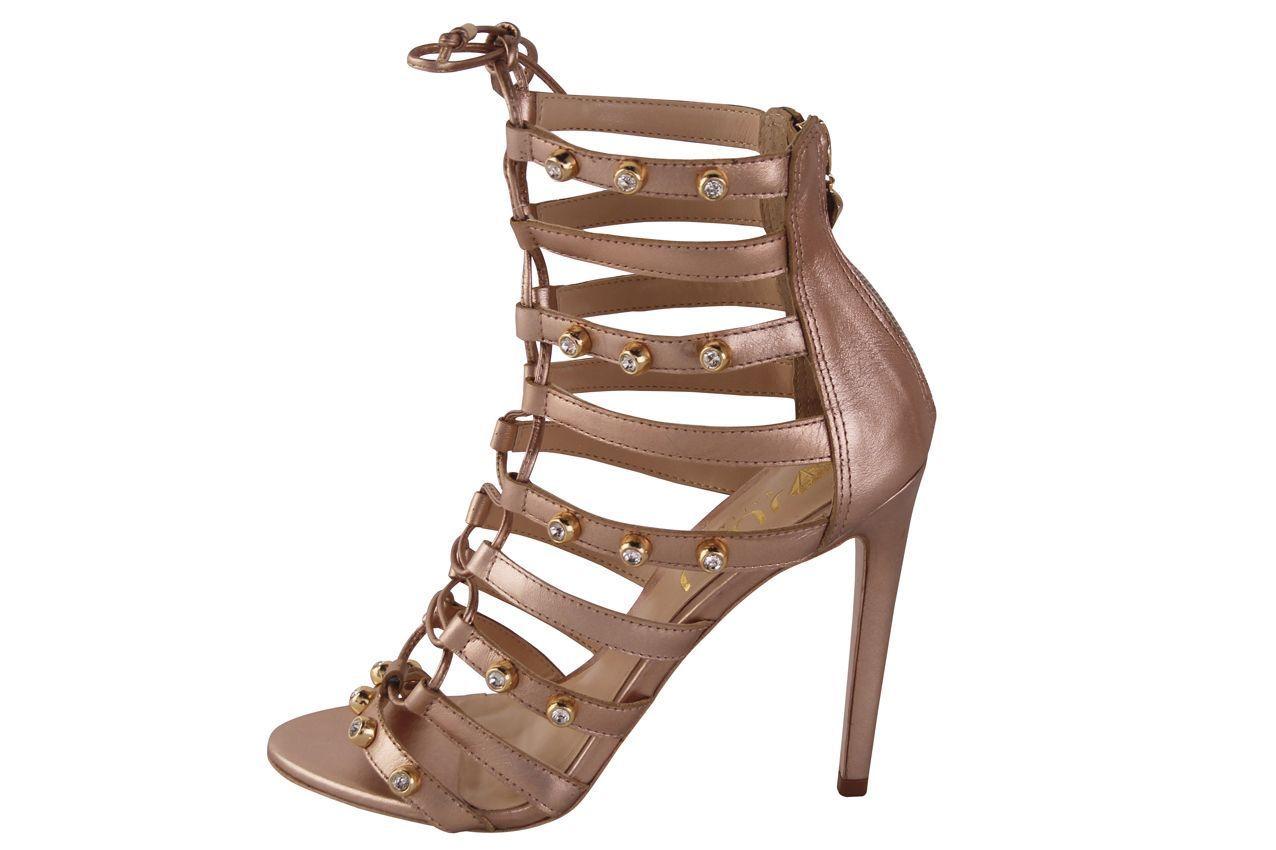 Sandália Conceito Fashion Couro Napa Bronze