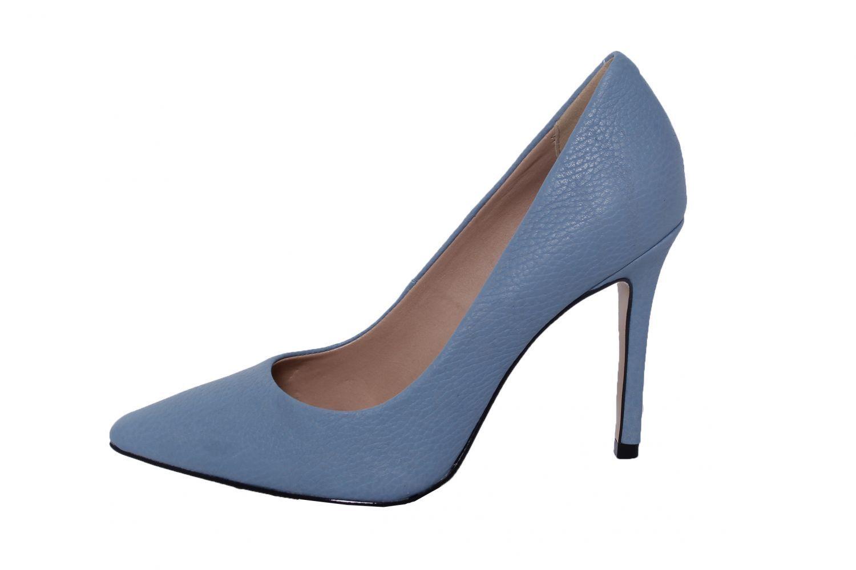 Scarpin Conceito Fashion Couro Azul