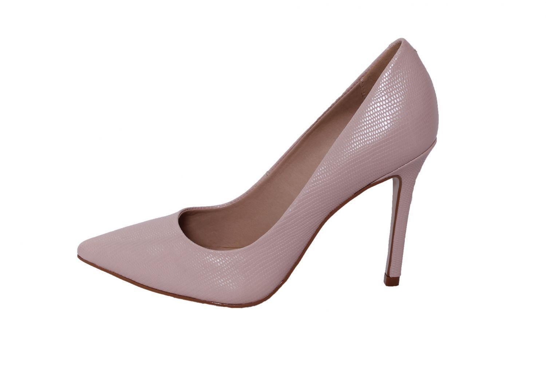 Scarpin Conceito Fashion Couro Lezard Rosê