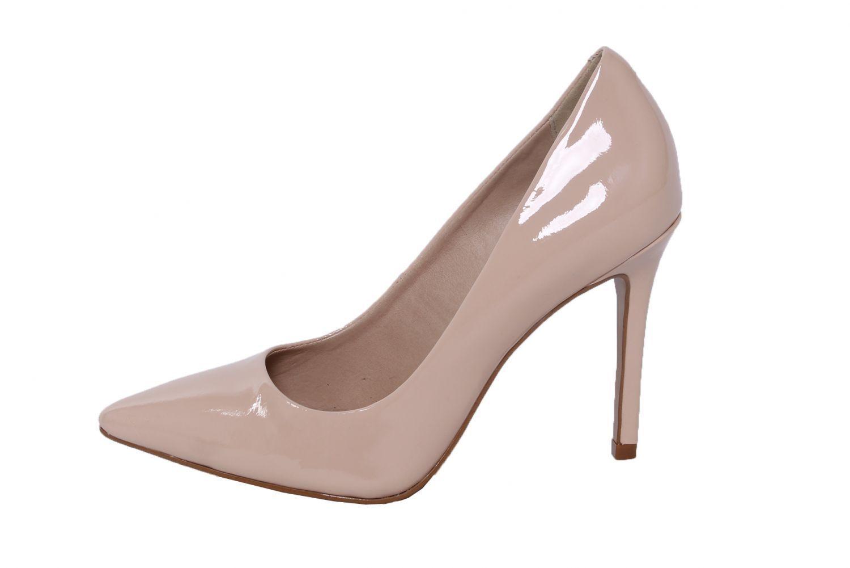 Scarpin Conceito Fashion Couro Verniz Nude Rosê