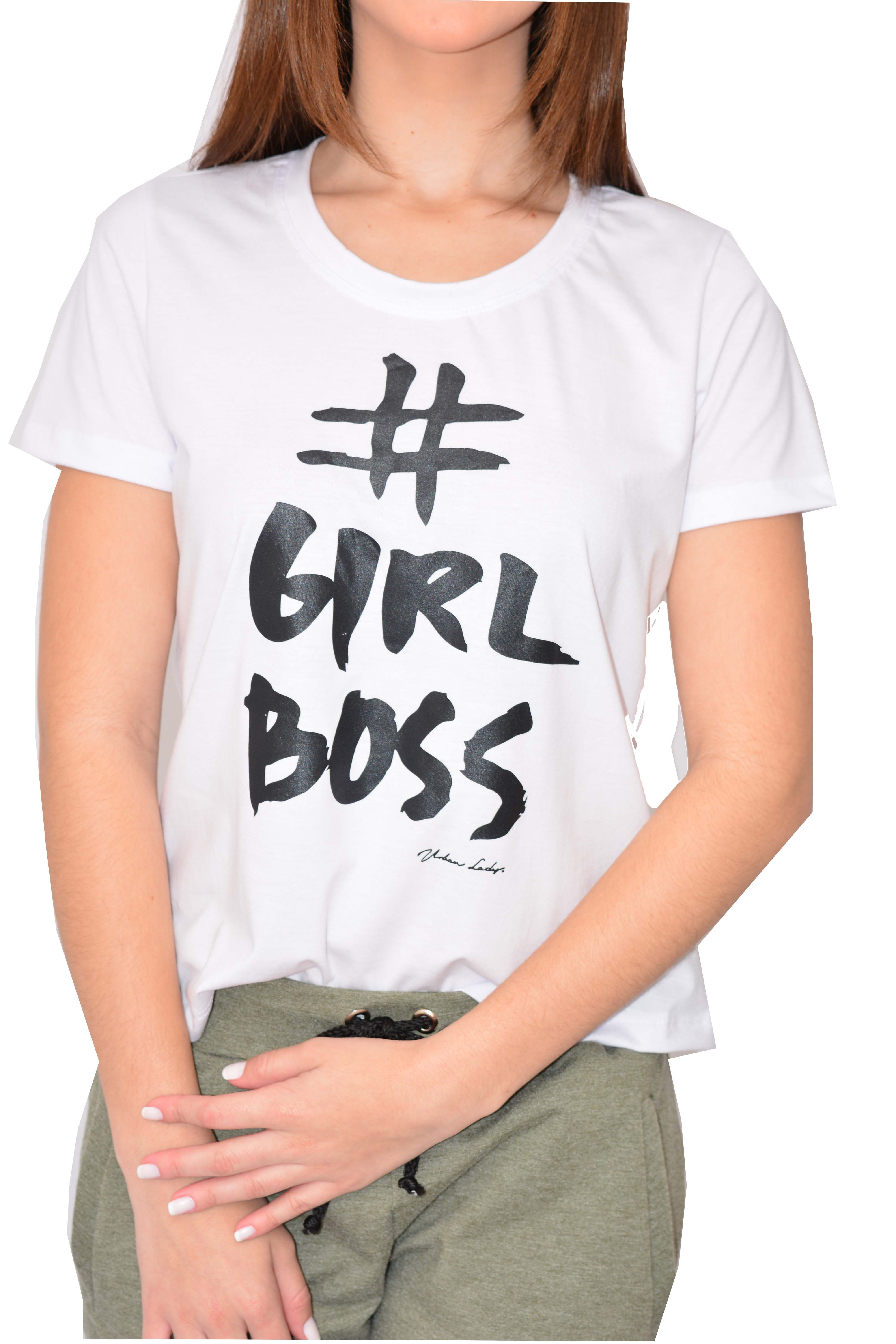 T-shirt Urban Lady Estampada Girl Boss