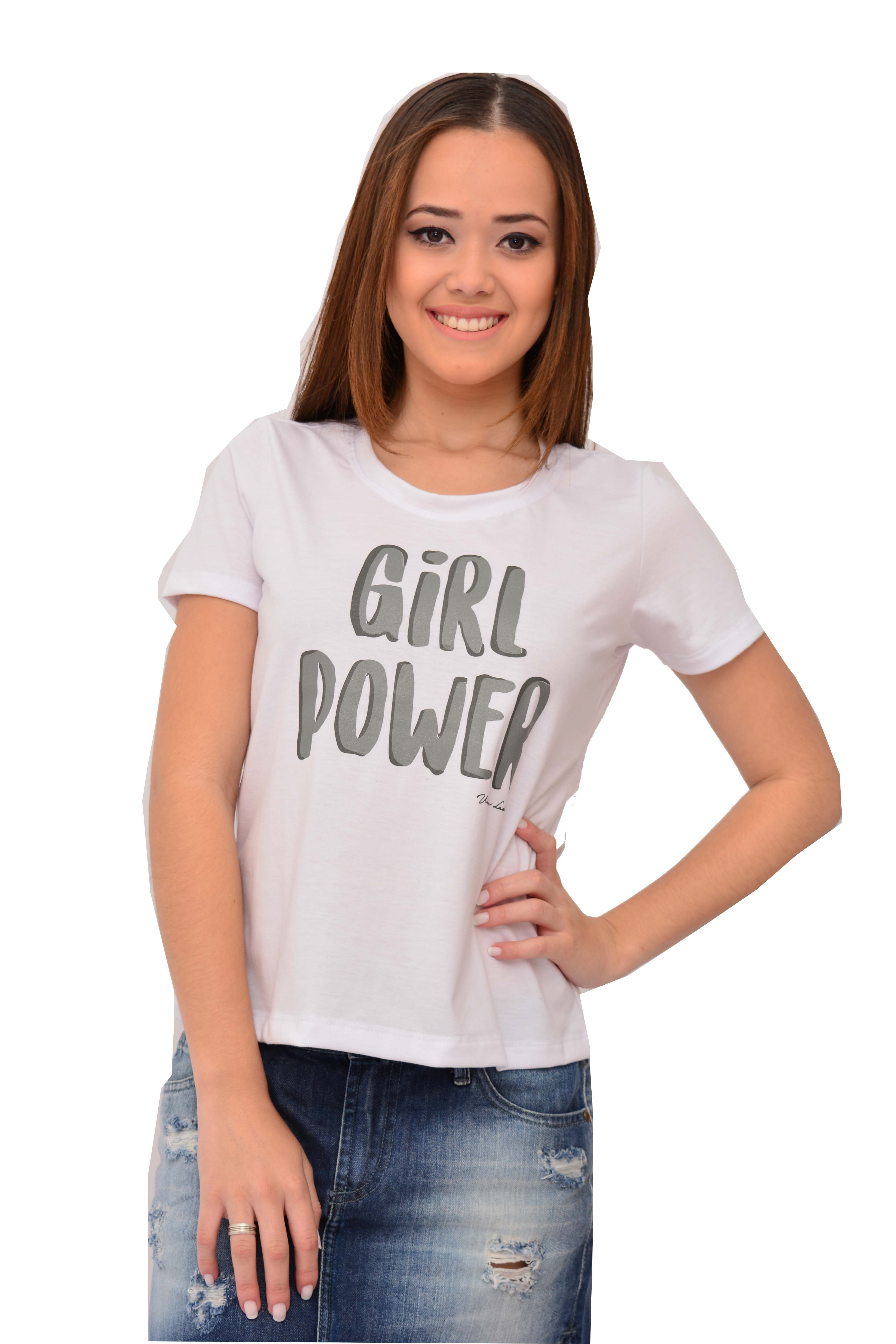 T-shirt Urban Lady Estampada Girl Power