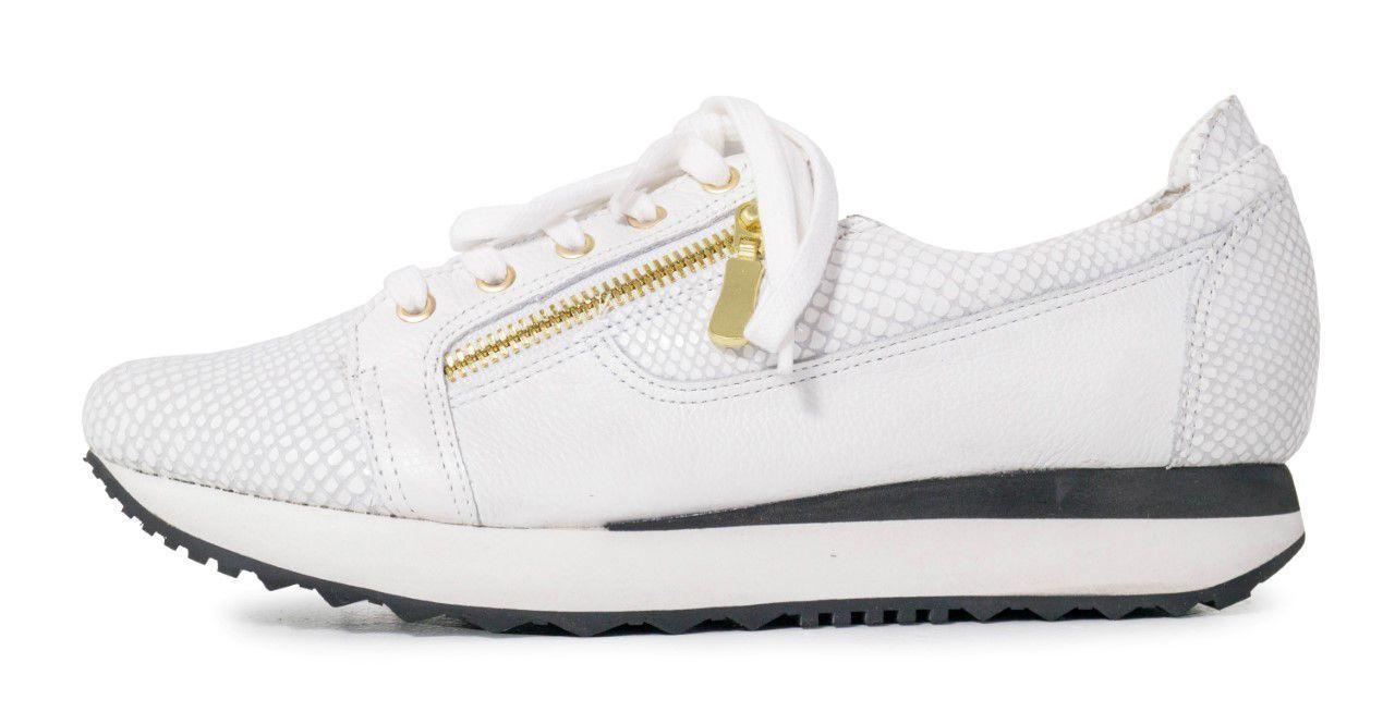Tênis Couro Floater Conceito Fashion Branco