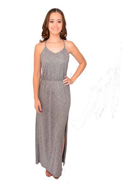 Vestido Longo Urban Lady Detalhe com Tiras