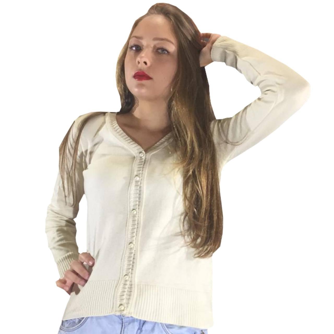Jaqueta de inverno feminina cardigan de lã batida