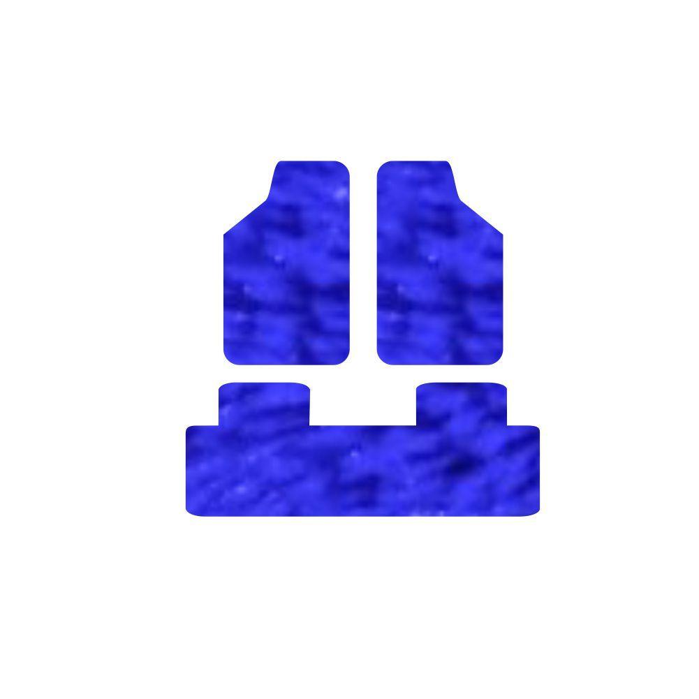 Jogo De Tapete Felpudo Universal Felpudo Para Carro 3Pçs - 24 Opções Cores [637]