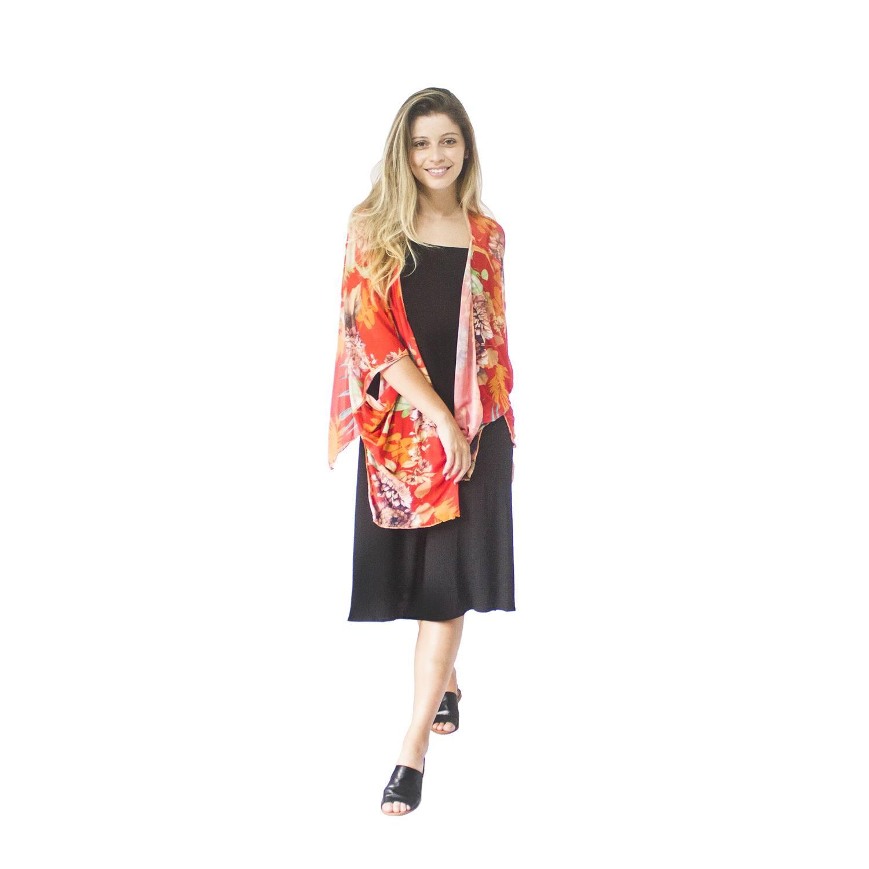 Kimono Baobá Vermelho Bluni
