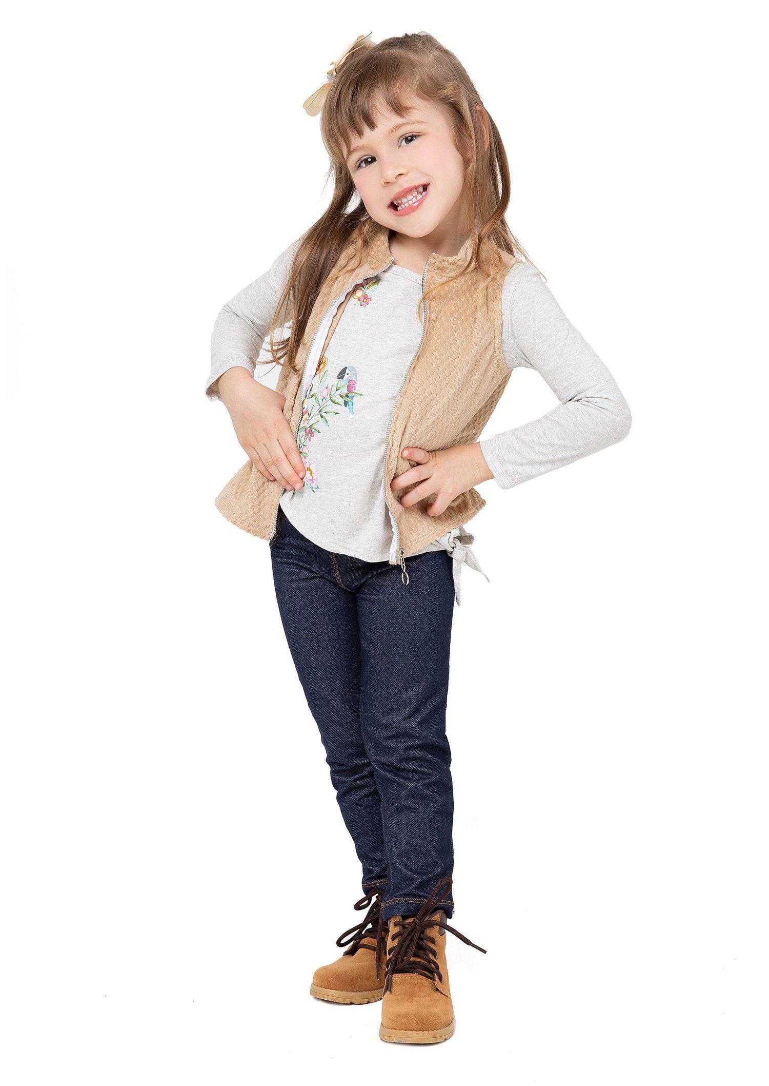 Legging Cotton Jeans Bolso OverKids  (Ref 101007)