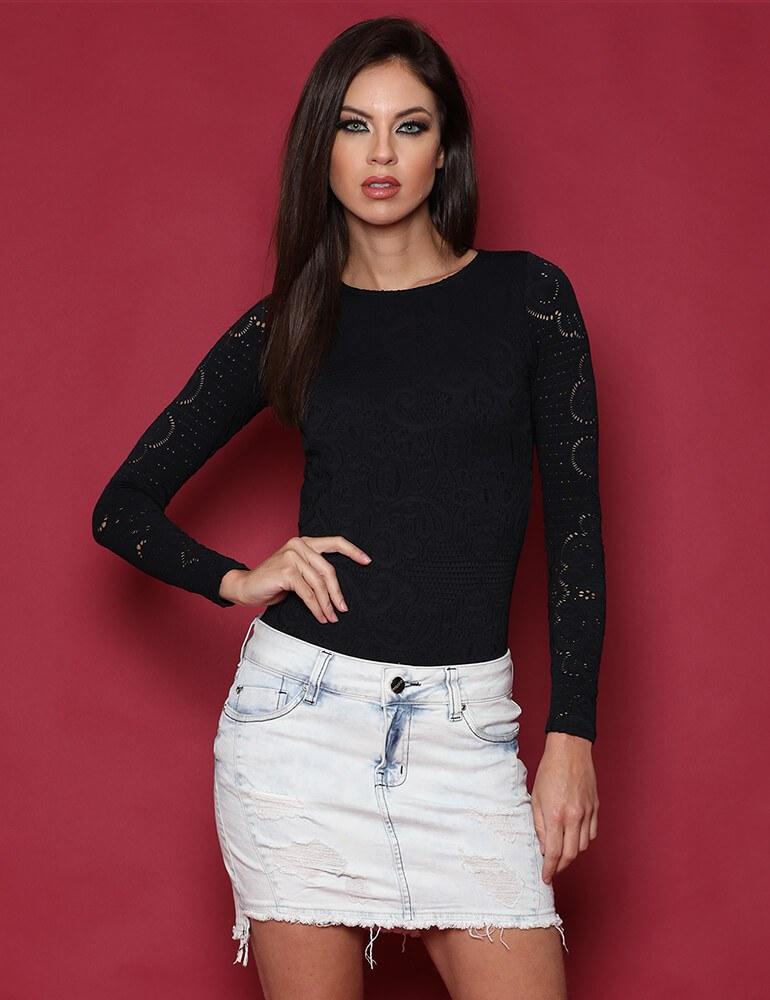 Mini Saia Feminina Fact Jeans Plus Size [3304]