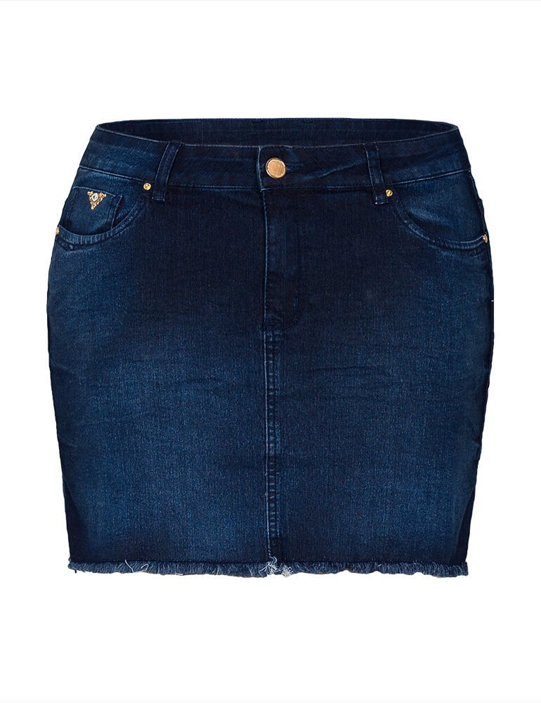 Mini Saia Feminina Fact Jeans Plus Size [3529]