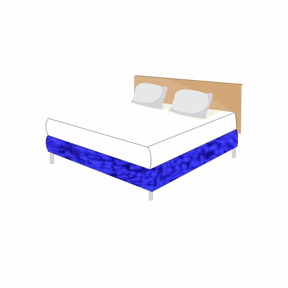 Saia Cama Felpuda  Box - King - 24 Opções Cores [1233]