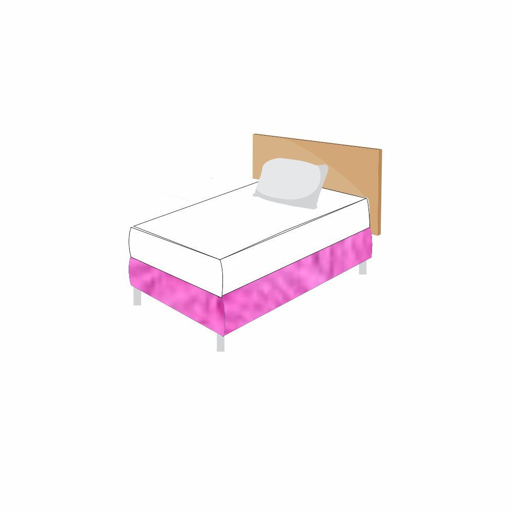 Saia Cama Felpuda  Box Solteiro - 24 Opções Cores [1227]