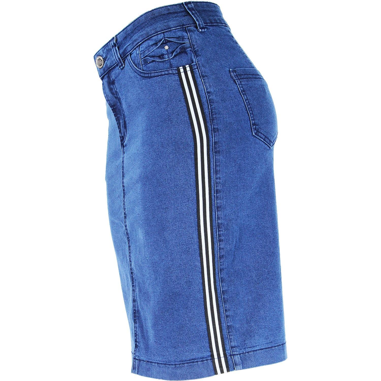 Saia Evangélica Eruption Jeans Faixa Lateral [7169ST]