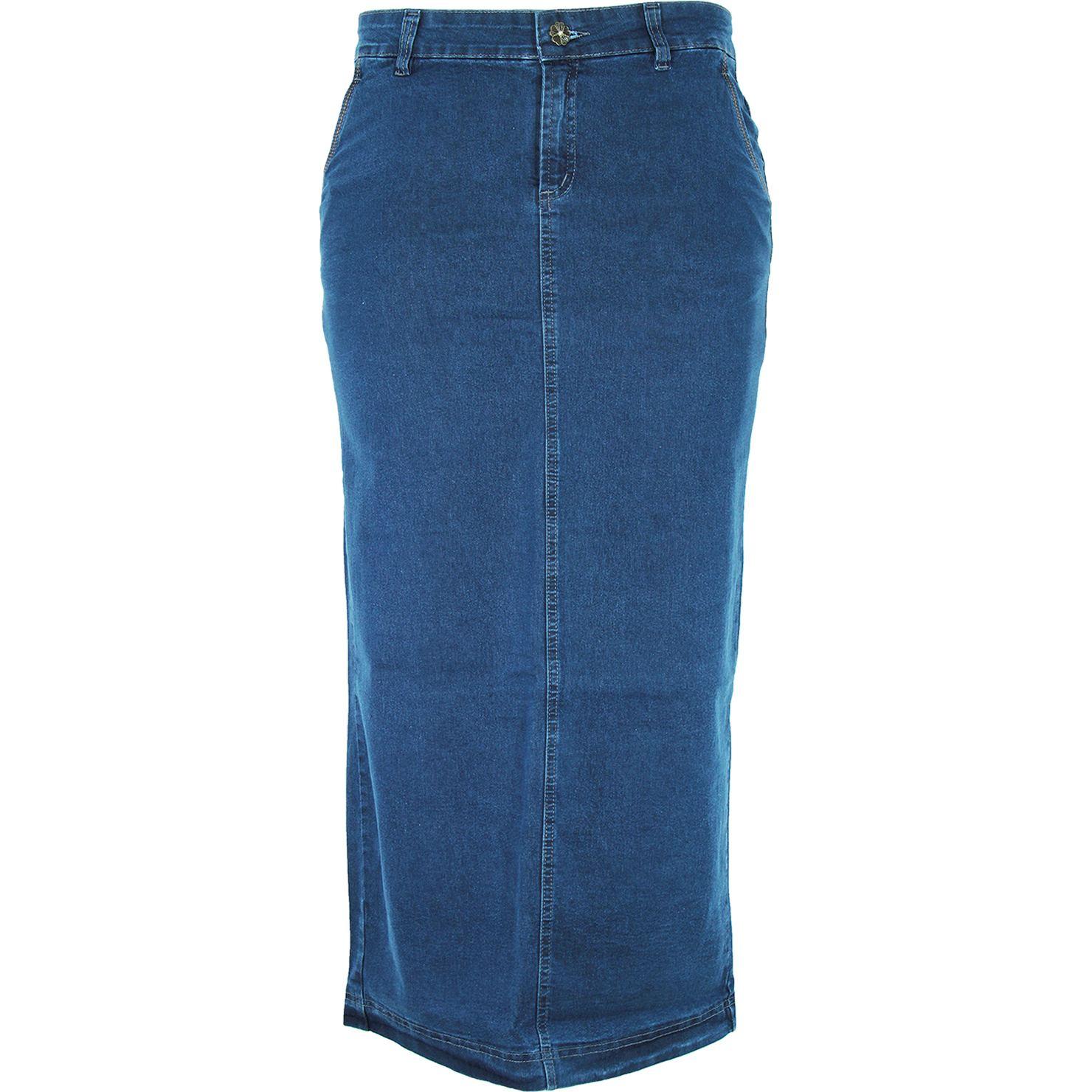 Saia Longa Eruption Jeans Botões [7802ST]