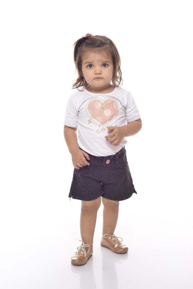 Shorts em Sarja Bebê Menina [797]