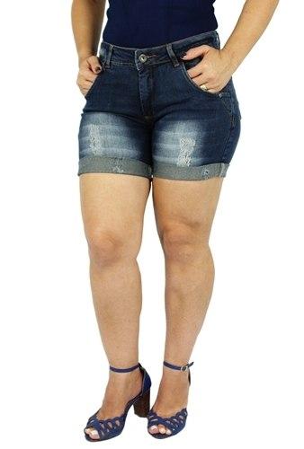 Shorts Dinho's Jeans Feminino Meia Coxa City ref. 2479