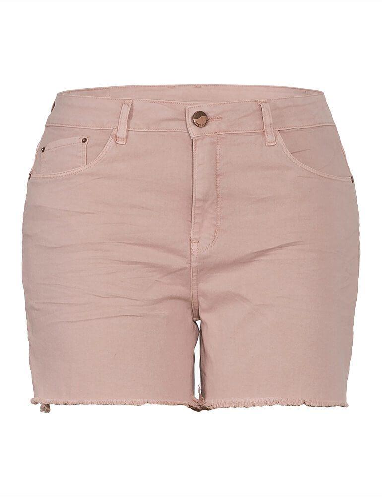 Shorts Feminino Fact Jeans Plus Size [03918] - Rosê
