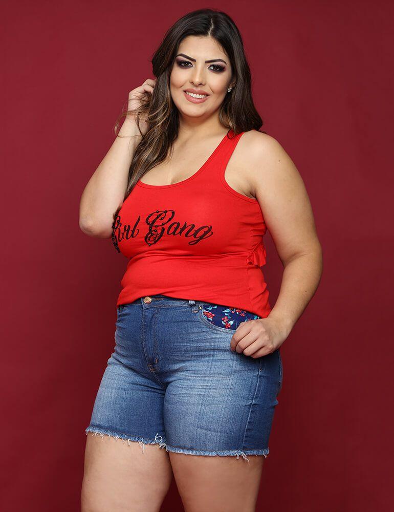 Shorts Feminino Fact Jeans Plus Size [3401]
