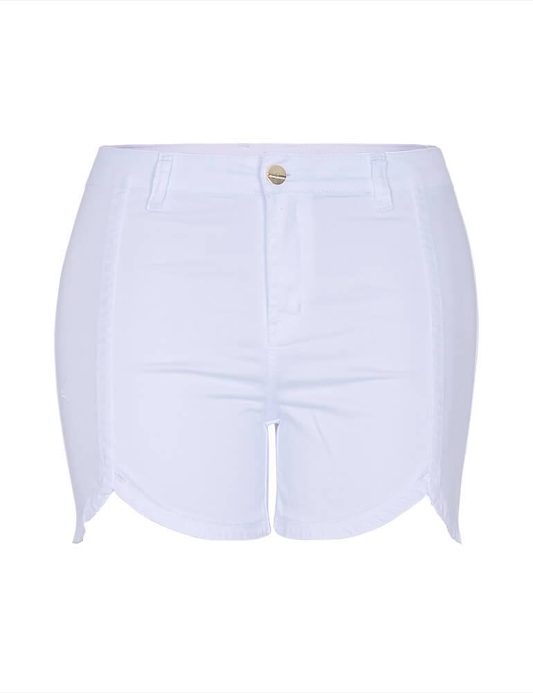 Shorts Feminino Fact Jeans Plus Size - Branco [3514]