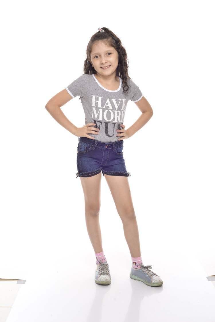 Shorts Feminino Jeans Infantil [015]