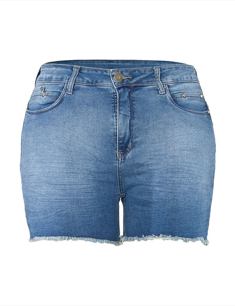 Shorts Jeans Feminino Fact Jeans ref. 03757 - Plus Size