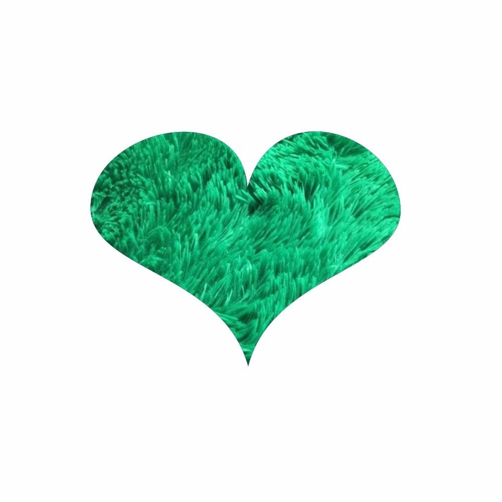 Tapete Felpudo Infantil Coração Felpudo 1,50X1,50 - 24 Opções Cores [1245]