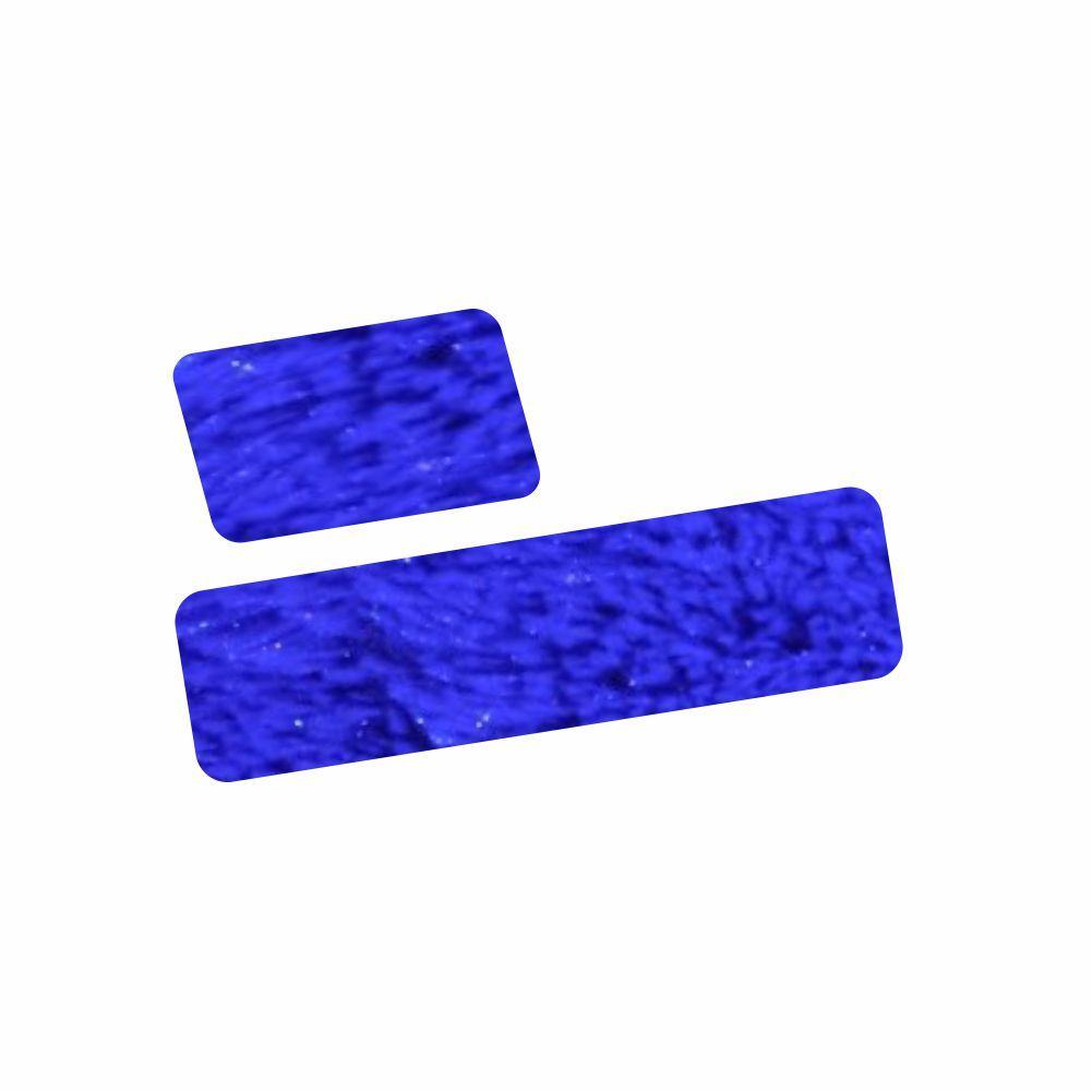 Tapete 2 Peças Para Quarto Felpudo Solteiro Com  ( 1 - 0,60X1,00 / 1 - 0,60X2,00) Cores Diversas [1383]