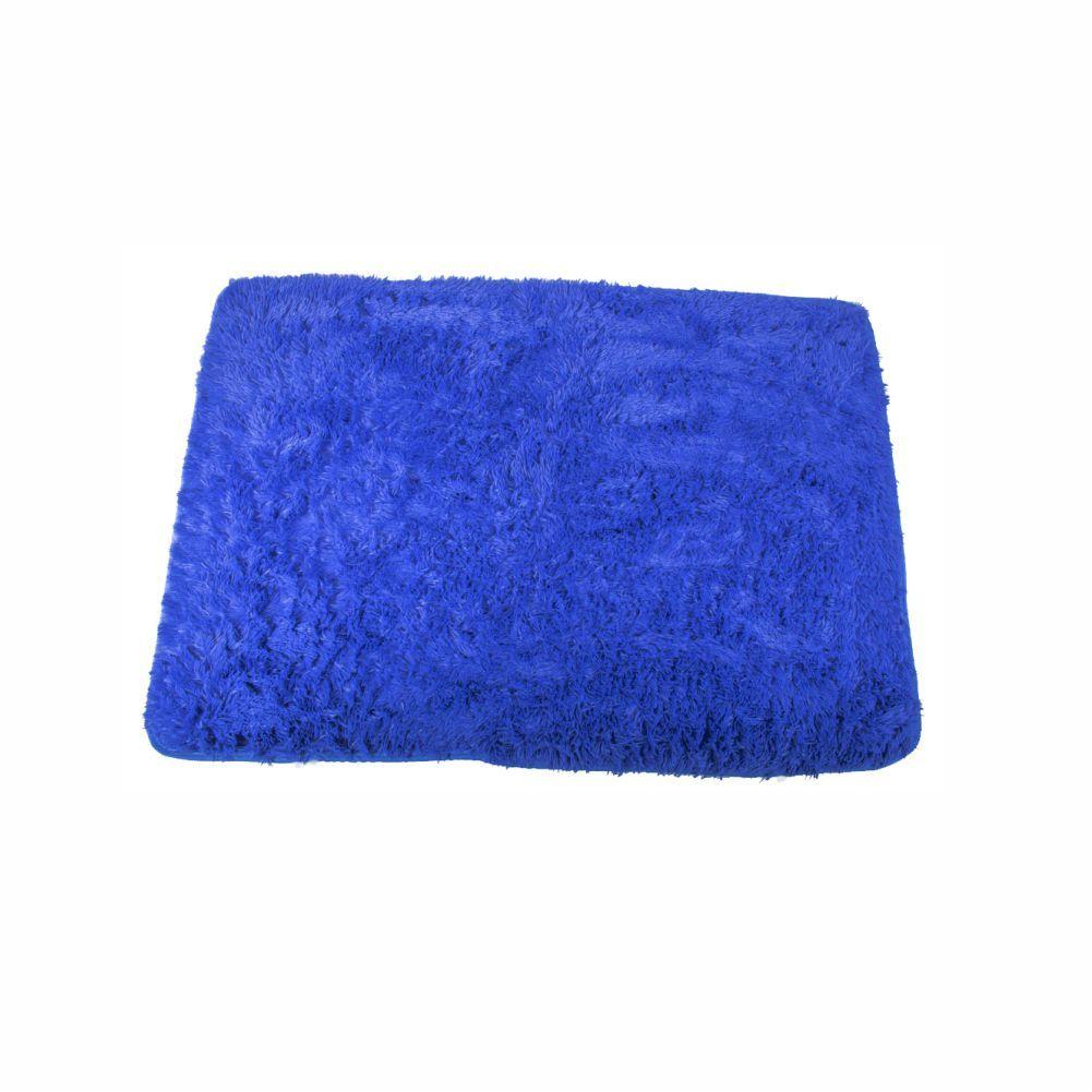 Tapete Felpudo Azul Liso 6,00X6,00 Quadrado [1481]