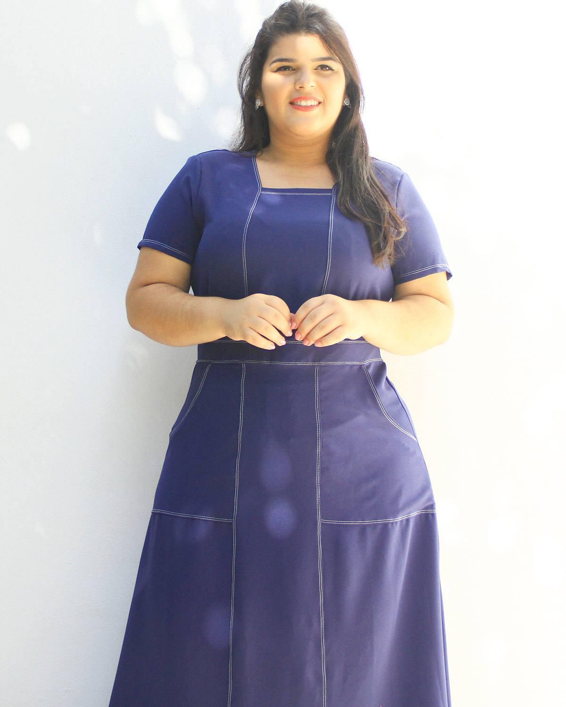 Vestido Longo Hadassa Plus Size ref. 6565935