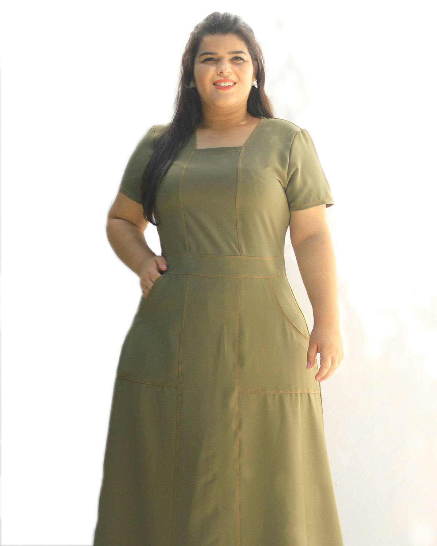 Vestido Longo Hadassa Plus Size ref. 6565938