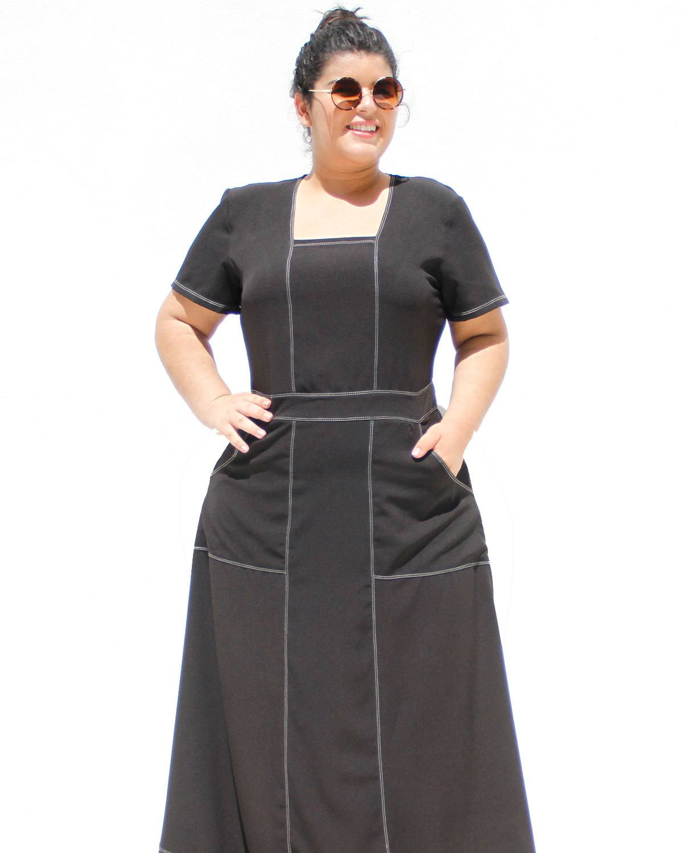 Vestido Longo Hadassa Plus Size ref. 6565974