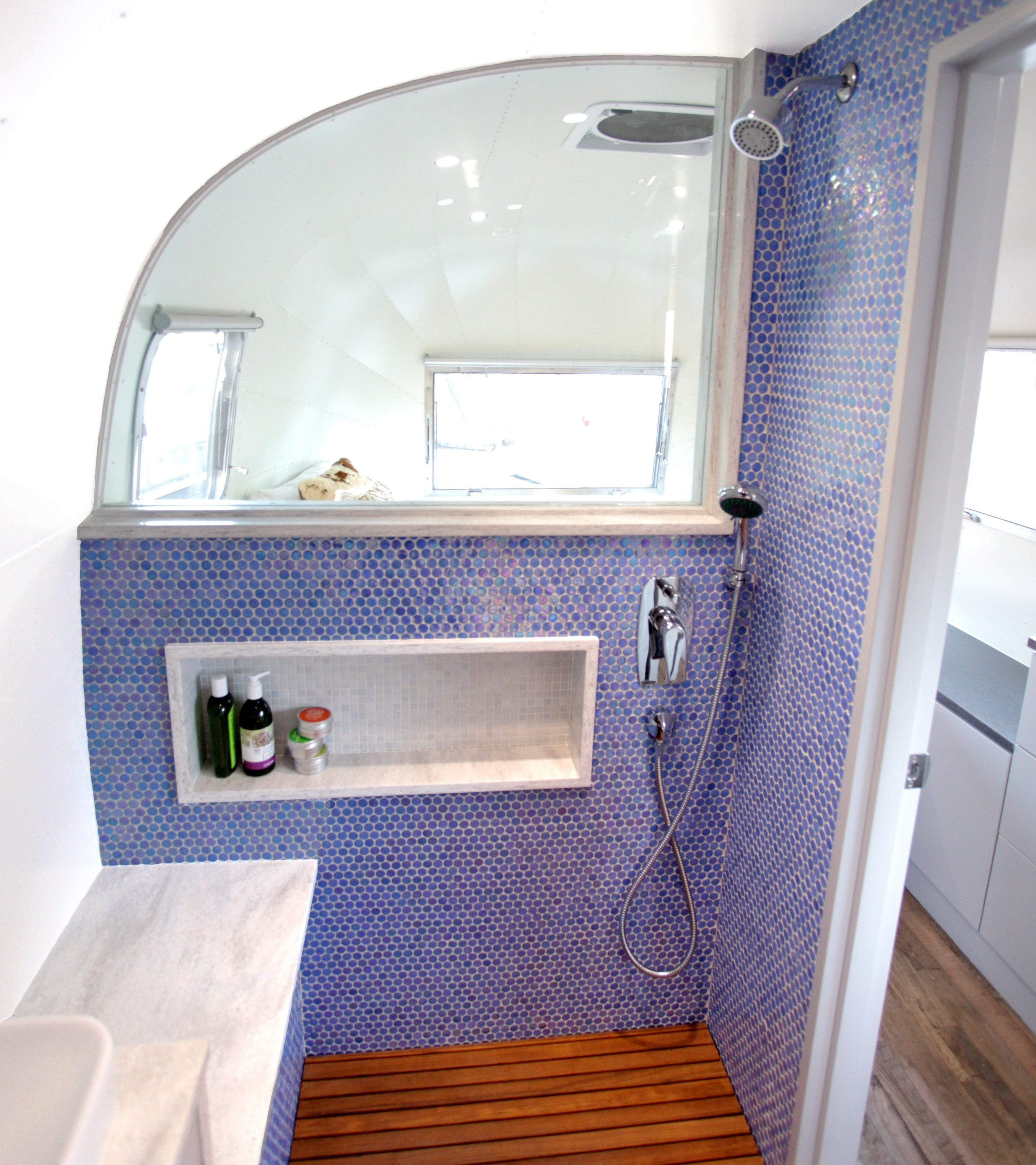 Airstream Bathroom Door Window