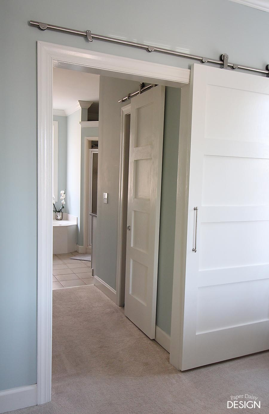 Barn Door For Hall Bathroommodern barn doors an easy solution to awkward entries