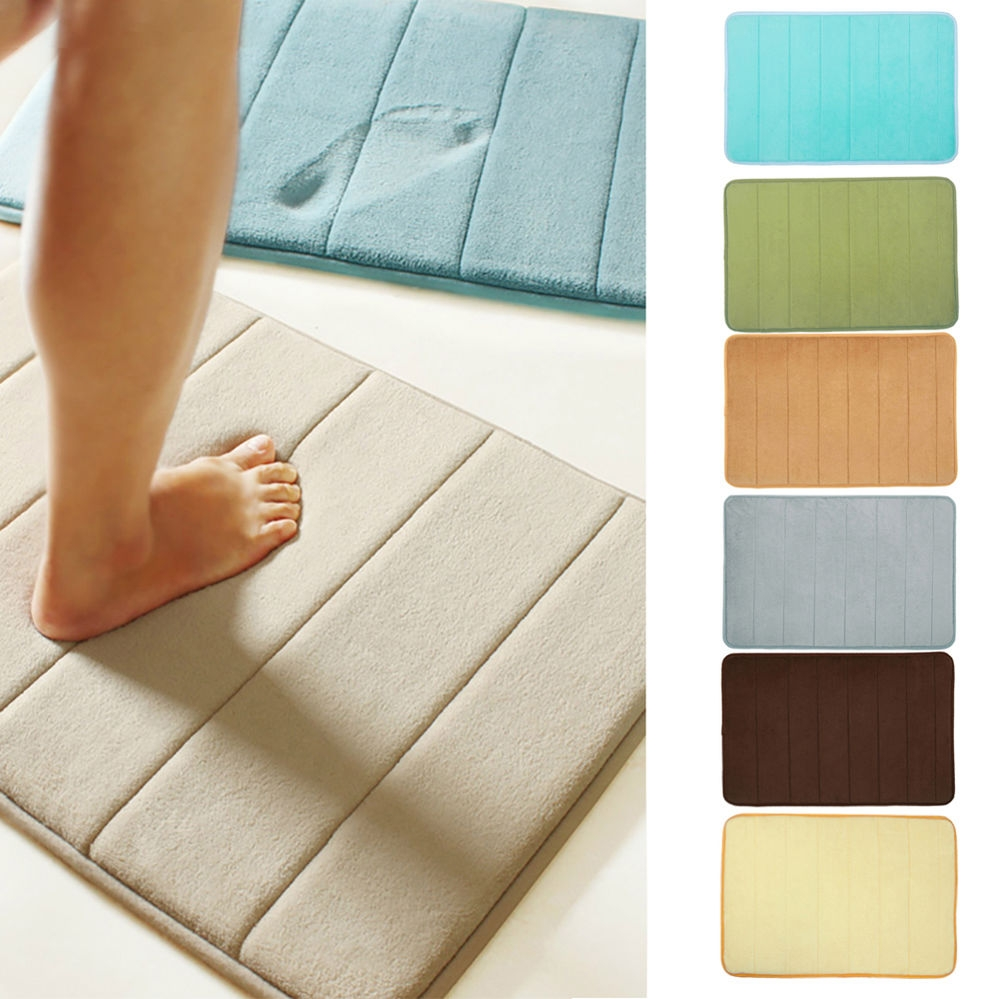 Bath Mats With Waterproof Backing