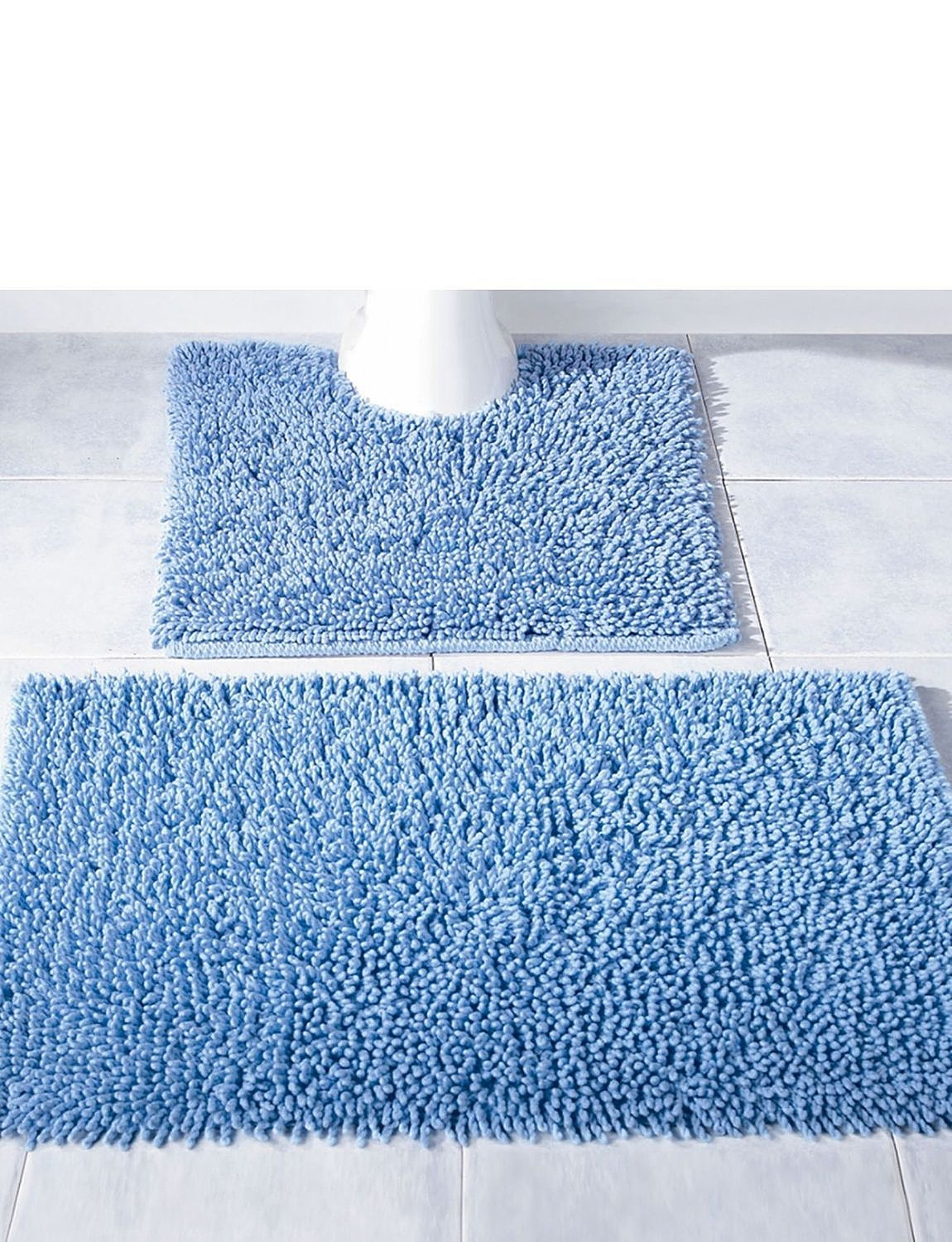 Blue Bath And Pedestal Mats
