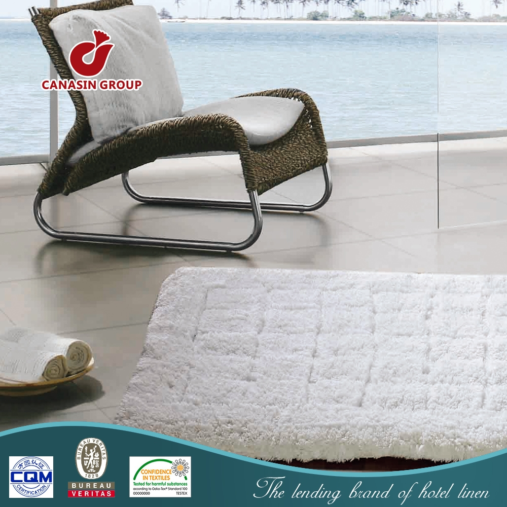 Cotton Bath Mats Without Rubber Backing