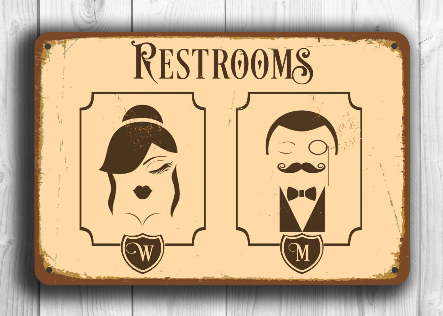 French Bathroom Signs Doors