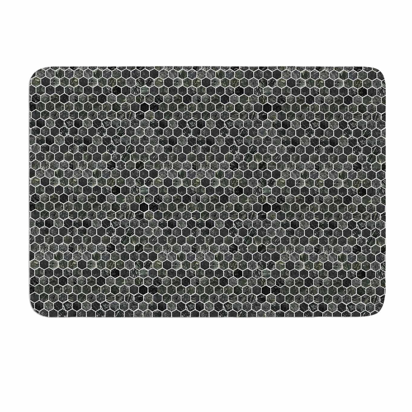 Grey And White Memory Foam Bath Mat