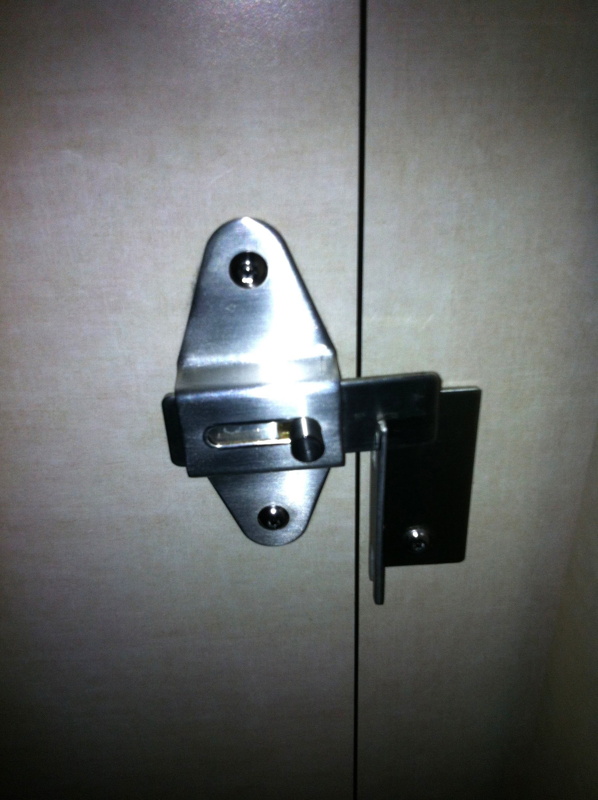 Latch For Bathroom Stall Door