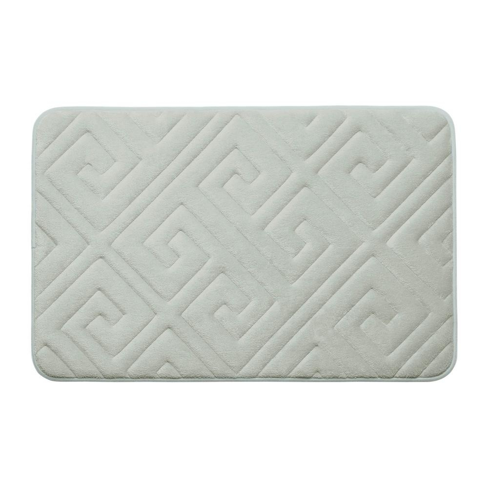Light Gray Memory Foam Bath Mat