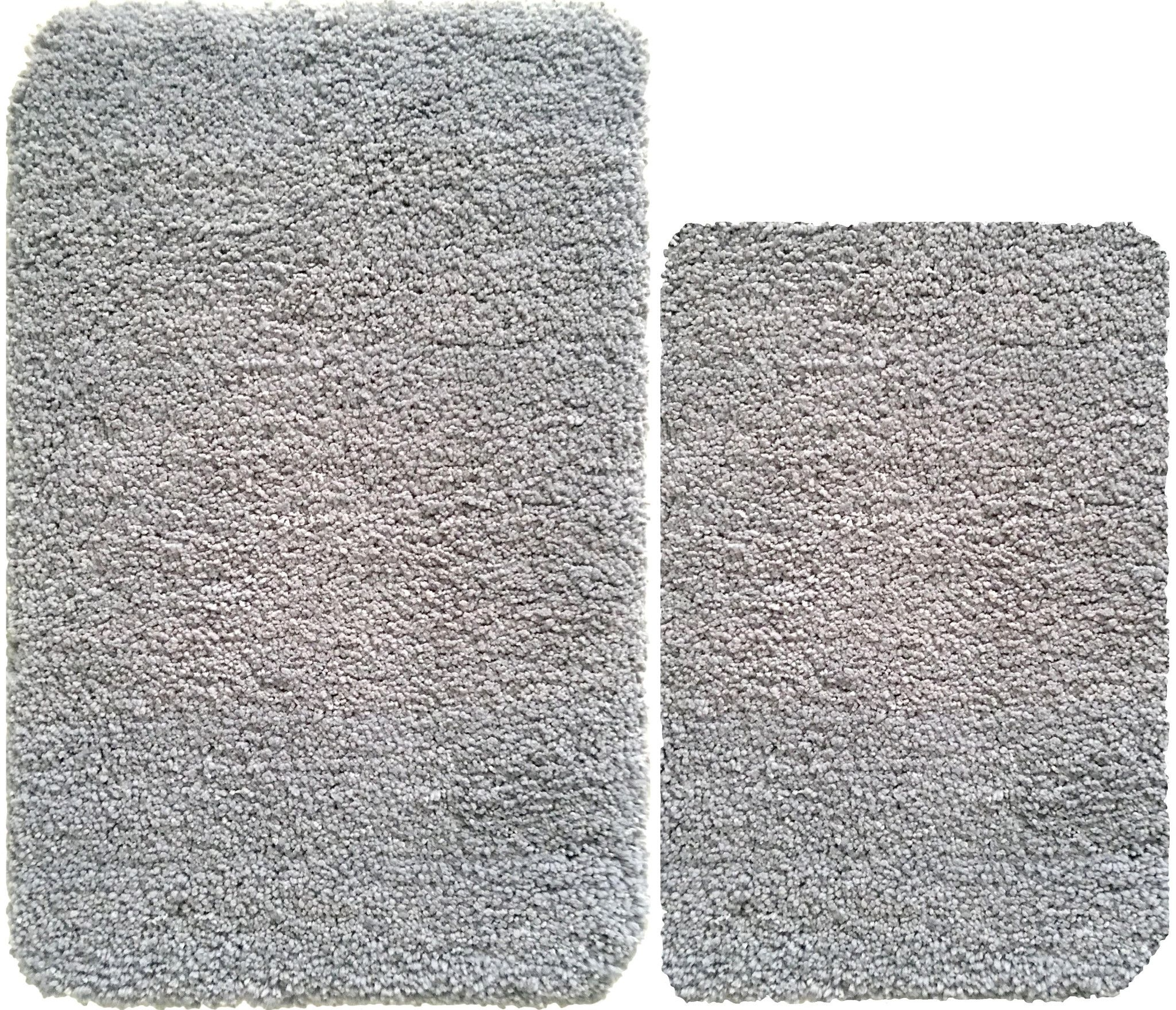 Light Grey Bath Mat Set