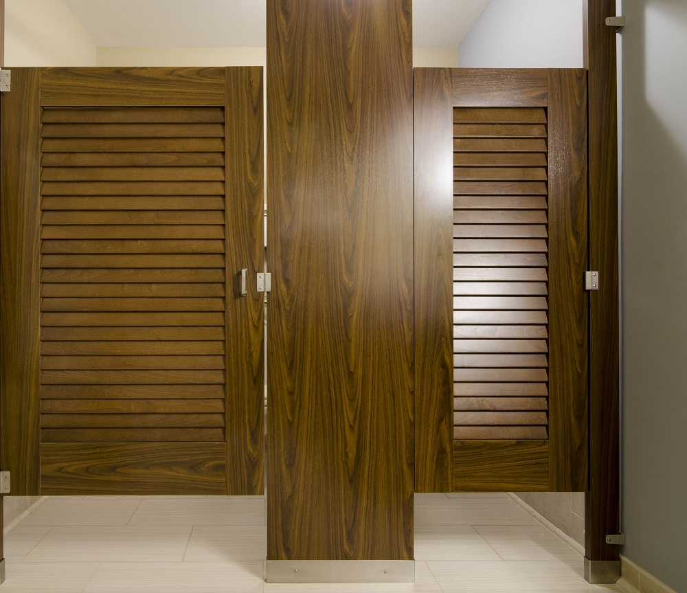 Louvered Bathroom Partition Doors